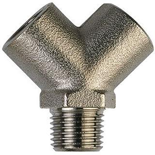 AIGNEP - 1/4 BSP Y PIECE F/M/F - Male Thread, BSPT x Female Thread, BSPP (Nickel Plated Brass Adaptors)