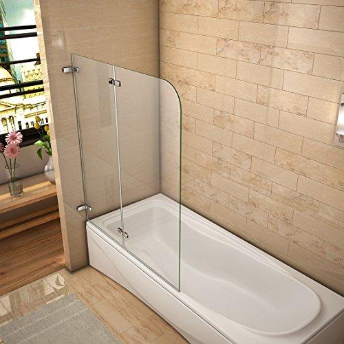 51DFWnANsvL - 110x140cm Mamparas/pantalla para bañera biombo baño plegable de Aica