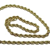 Never Say Never Cordón salomónico de Oro Amarillo de 18k de 3.3Mm de Ancho por 60cm de Largo Cierre mosquetón Peso; 7.40gr de Oro de 1ª Ley