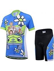 Vivi Pray Maillot de cyclisme junior manches courtes + cuissard enfant Ensemble