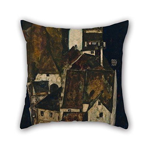 45,7x 45,7cm/45von 45cm Ölgemälde Egon Schiele–Dead City III (City on the Blue River III) Kissenbezüge beide Seiten ist Fit für Esszimmer Boy Friend Kinder Frau Kinder Mutter