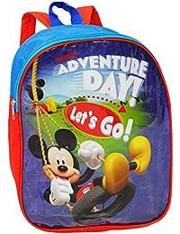 """Kinder Rucksack - """" Disney Mickey Mouse """" - Tasche - wasserfest & beschichtet - Kinderrucksack / groß Kind - Mädchen - Jungen - z.B. für Kindergarten / Vorschule / Schule - Mädchenrucksack / Jungenrucksack - Maus - Micky - Mäuse - Playhouse - Kita Kindertagesstätte - Kindertasche - Sport / Wanderrucksack - Donald Duck"""