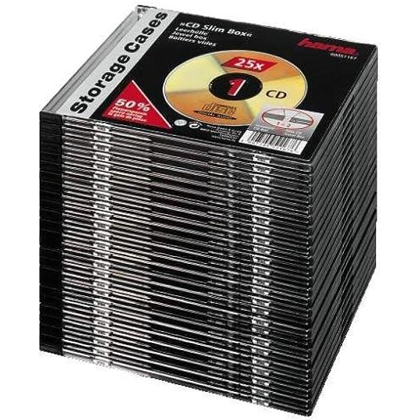 Hama Cd Box Slim Schwarz 25er Pack Computer Zubehör