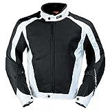 IXS Airmesh Evo 2 Motorrad Textiljacke, Farbe schwarz-weiss, Größe L