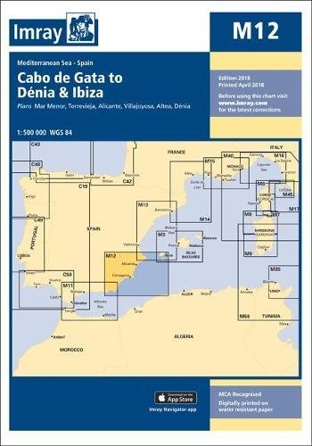 Imray Chart M12: Cabo de Gata to Denia and Ibiza (M Charts) por Imray