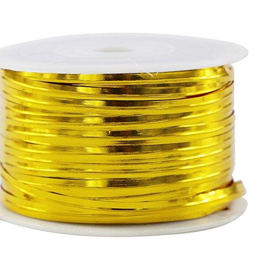 EDGEAM Rivestito di Plastica del Nastro Metallico Legame di Torsione Per la Sigillatura di Cuocere il Pane Confezioni di Caramelle Filo (oro)