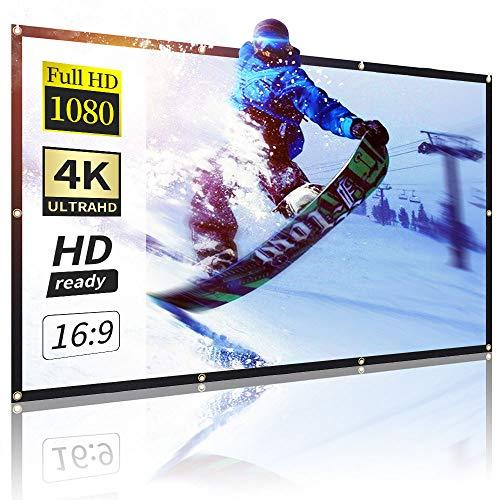 Écran de Projection,120 Pouces 16: 9 HD Portable Projecteur Écran Portable Pliable, Compatible avec Vidéoprojecteur Home Cinéma/Réunion/Colloque/Extérieur/Représentation Commercial Améliorer Épaissir