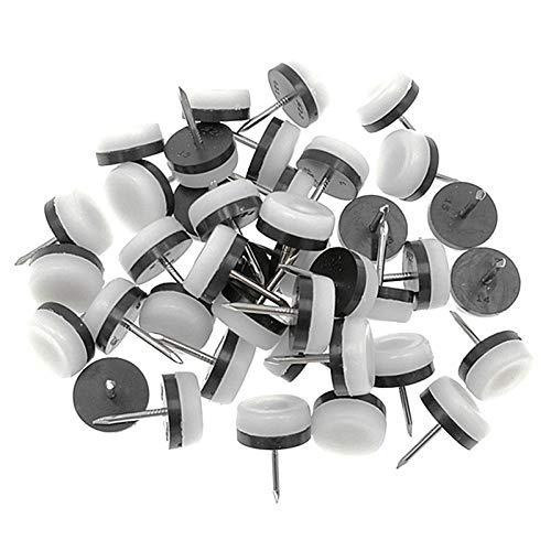 lyscz 40Pcs verdickter Möbelgleiter, Nagel-auf Nylonschieber-Auflage-Boden-Schutz für hölzerne Bein-Füße des Stuhl-Tabellen-Sofas (18Mm oder 0.7Inch -