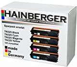 4x Hainberger Toner Set für Brother, kompatibel zu TN 320/ 325/ 328