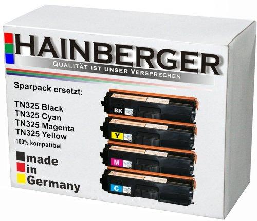 Preisvergleich Produktbild 4x Hainberger Toner Set für Brother, kompatibel zu TN 320/ 325/ 328