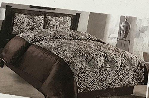 3PCS gesteppt Tagesdecke Floral Damast Natürliche Black King Size Tagesdecke Set Tröster Überwurf Creme, Violett