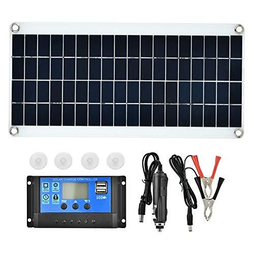 20W Solarkollektor Kit, flexibles Ladegerät für polykristalline Solarkollektoren für Wohnmobile, Anhänger, Boote, Schuppen, Kabinen
