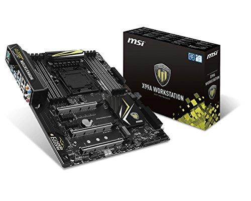 MSI X99A WORKSTATION Intel X99 LGA 2011-v3 ATX - Placa base (DIMM, DDR4-SDRAM, Cuadrángulo, Intel, Core i7, LGA 2011-v3)