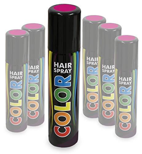 KarnevalsTeufel Hairspray Color buntes Haarspray Haarschmuck farbig (Pink)