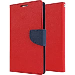 Quickshoppe Flip Cover For Samsung Galaxy On7-Red