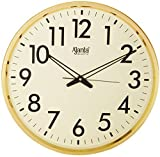 #5: Ajanta Quartz Wall Clock (32 cm x 32 cm x 2 cm, Ivory Dial and Golden Rim)