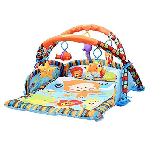 Blanketswarm bébé Tapis de Jeu Tapis de Jeu avec côtés, 85x 95cm Doux Premium épais bébé Jouet d'éveil Tapis de Jeu avec la Main Jouets pour Les Enfants de la Naissance pour 5. 0-15Mois