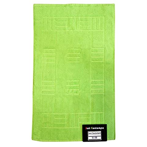 Just Contempo Egyptian Cotton Bath Mat, Green