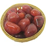 Plusvalue Carnelian Pebbles Tumbled Stones In Basket - Healing Crystals