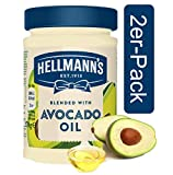 Hellmann's Salatcreme mit Avocado-Öl 2er Pack Avocado-Mayonnaise zum Dippen, ideal für Salate, Gemüse und Fleisch (2 x 272 ml)