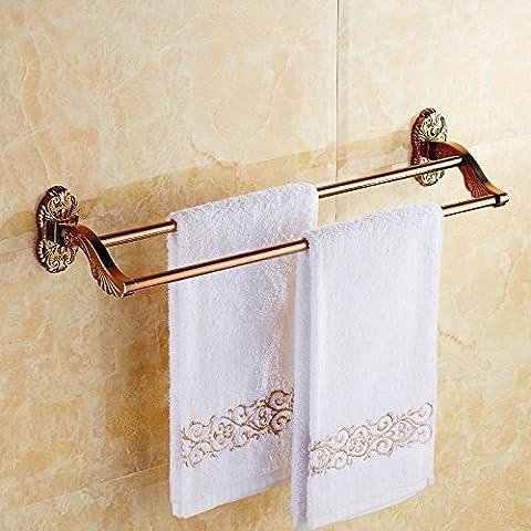 Rose Gold Asciugamano 2 Bagno di leva appendiabiti Continental Antico Bagno Asciugamani Bagno vasca Portasalviette Continental