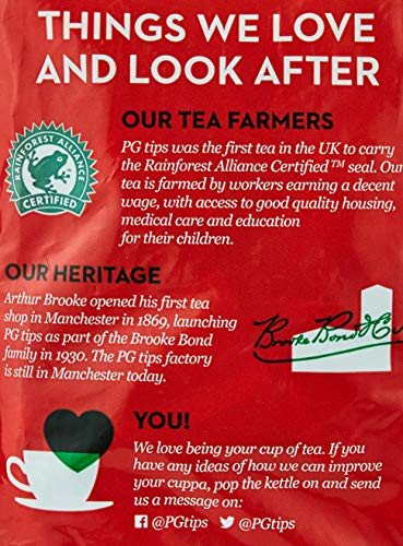 PG Tips Original Pyramid Tea Bags (Pack of 1, Total 460 Tea Bags)
