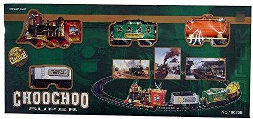 Bonkerz Plastic ChooChoo Toy Train That Emits Real Smoke with Light and  Sound Track Set for Kids, Medium (Multicolour)
