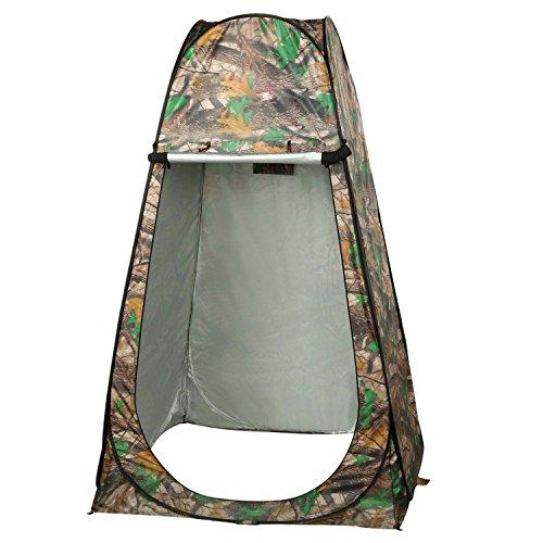begorey Wasserdichtes UV-Schutz Duschzelt Portable Pop-Up-Zelt Toilettenzelt Camping mit Tasche Toilette Dusche Umkleide Tarnung im Freien (Tarnung_2)
