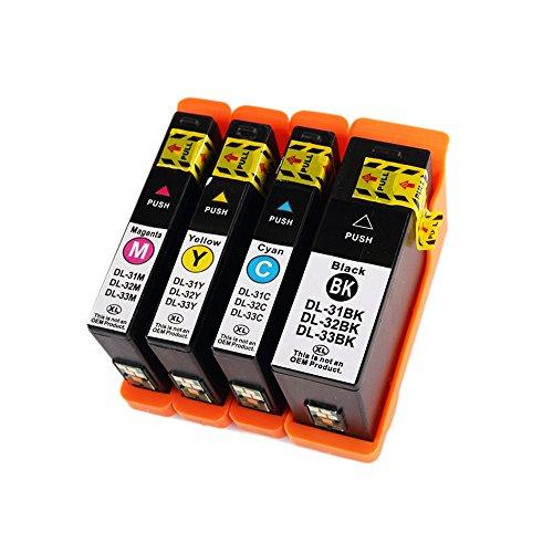 vivink Confezione da 4serie 31Compatibile Cartucce d' inchiostro per DELL V525W V725W stampante