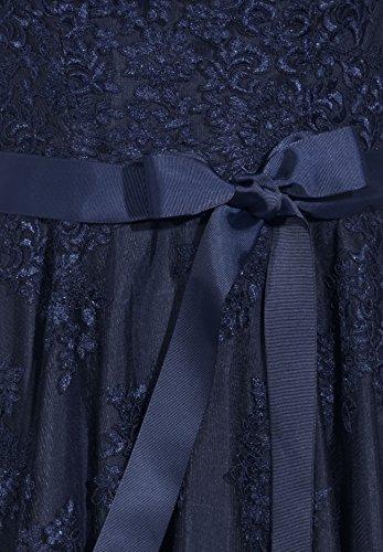 Spitzenkleid Dreiviertelarm Nachtblau