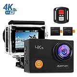 APEMAN A77 Camera Sport 4K 12MP WIFI Étanche 30M Ultra Grand Angle 170° Wifi 2,4G Télécommande Écran LCD 2' Avec Boîtier Étanche et Kit d'Accessoires