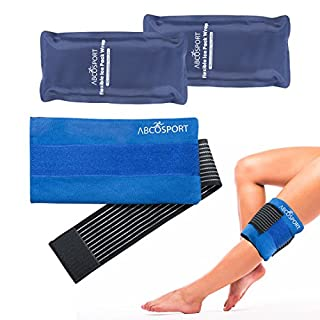 Flexible Gel Ice Pack & Wrap for Hot and Cold Compression Therapy - Adjustable Strap for Desired Compression - Effective Pain Relief & Recovery - Ideal for Neck, Knee, Elbow, Arm, Head