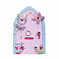 Lucy Locket Kids Magical Fairy Door (Glittery Hand Painted Skirting Board / Wall / Door Ornament)