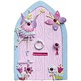 Pequeña puerta rosa y celeste de hadas con purpurina para decorar la habitación de las niñas de Lucy Locket