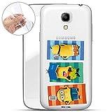 Hülle für Samsung Galaxy S4 Mini - Minions Handyhülle mit Motiv und Optimalen Schutz TPU Silikon Tasche Case Cover Schutzhülle - Minions Sonnen