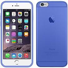 TBOC® Funda de Gel TPU Azul para Apple iPhone 6 / 6S (4.7 Pulgadas) de Silicona Ultrafina y Flexible