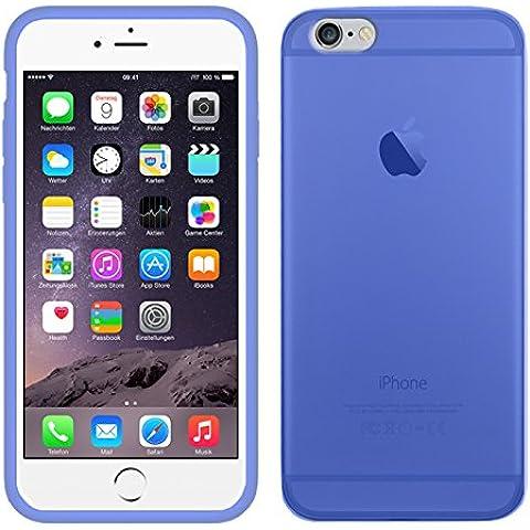 TBOC® Funda de Gel TPU Azul para iPhone 6 (4.7 Pulgadas) de Silicona Ultrafina y Flexible