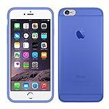 TBOC Funda de Gel TPU Azul para Apple iPhone 6 / 6S (4.7 Pulgadas) de Silicona Ultrafina y Flexible