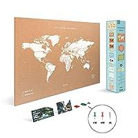Miss Wood Map XL - Cork World Map