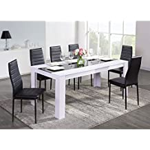 Amazon.fr : table salle manger - Blanc