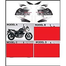 Kit adesivi decal stikers V-STROM 650 2004 2011 WORLD MOD.A BLACK MOTO