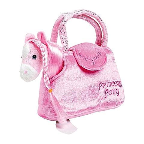 """Pony in der Tasche """"Paulina"""" aus kuschelweichem Plüsch, mit einer"""