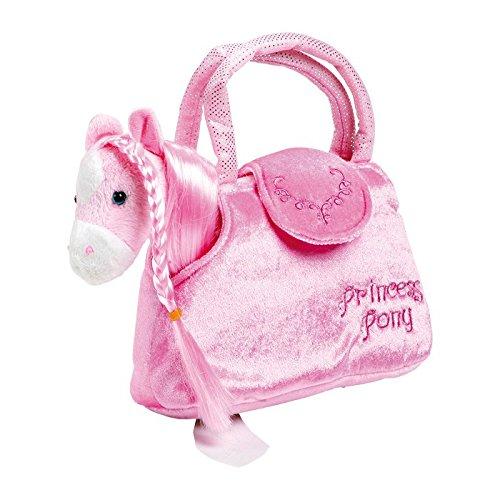 """��Paulina"""" aus kuschelweichem Plüsch, mit einer niedlichen Handtasche ideal zum Mitnehmen, für kleine Damen ab 3 Jahren (Pony In Einer Tasche)"""