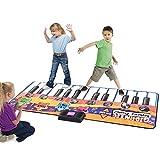 Musikmatte Klaviermatte Spielmatte elektronischer Spielteppich Musikteppich Keyboardteppich Kinder Klavier Matte Keyboard Musik Teppich mit 24 Tasten/8 Instrumenten