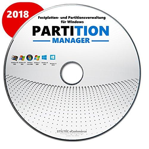 Partition Profi- Festplatte HDD Partition>Löschen> Bearbeiten>Verwalten Windows 10-8-7-Vista / 32 & 64 bit CD - Festplatte Löschen