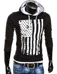 MT Styles - R-537 - Sweat-shirt à capuche - Noir/Blanc - M