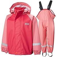 Helly Hansen K Bergen PU - Juego de Lluvia Infantil, Infantil, Color Strawberry Pink, Tamaño 7