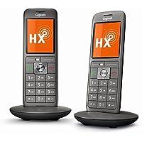 Gigaset CL660HX Duo Telefon - 2 Schnurlostelefone / Mobilteile - TFT Farbdisplay / Freisprechen / Grosse Tasten - IP Telefon - schnurlos / VoIP - Router kompatibel - anthrazit