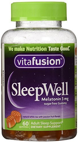 Price comparison product image Vitafusion Sleep Well for Adults Sugar Free White Tea with Passion Fruit -- 60 Gummies by Vitafusion