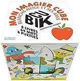 Cubik : mon imagier cube Blanche-Neige et ses amis : Coffret avec 6 puzzles